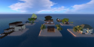 Free residential mini-islands on Island Oasis. (Image courtesy Island Oasis.)