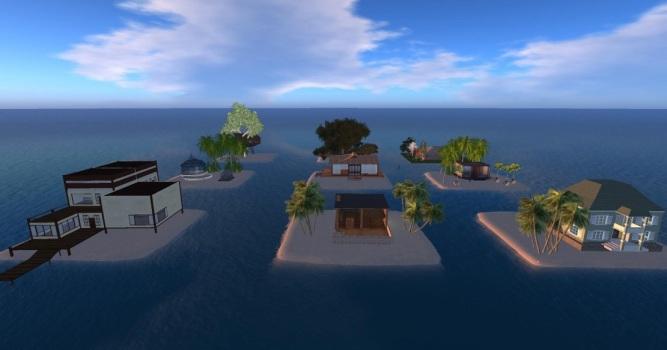 Free residential mini-islands on Island Oasis. (Image courtesy Island Oasis.)