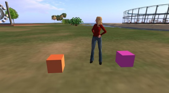 I made these boxes with my own avatar hands.