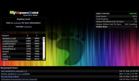MyOpenGrid splash screen.