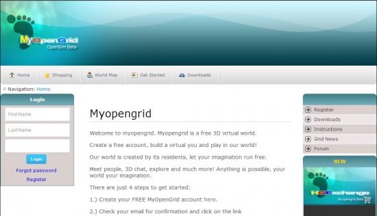MyOpenGrid home page, at www.myopengrid.com
