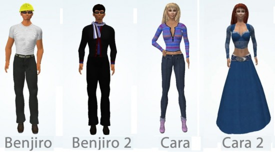 Starting avatars are CC licensed, with avatars by Slim Jammies and clothing by Linda Kellie.
