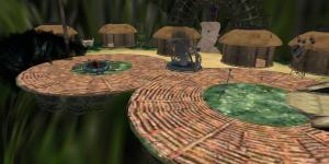 Pandora-themed area on AviWorlds grid. (Image courtesy AviWorlds.)