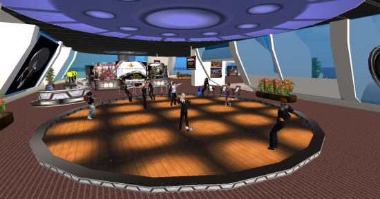 A Star Trek-themed dance party on UFS Grid. (Image courtesy UFS.)