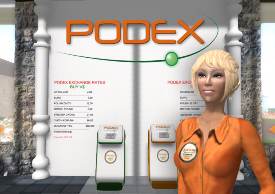 Podex terminal on the Virtual Highway grid. (Image courtesy Podex.)