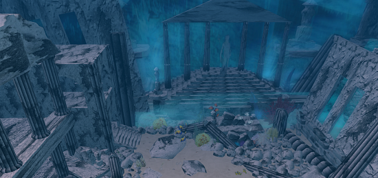 Underwater Atlantis ruins. (Image courtesy Virtual Highway.)