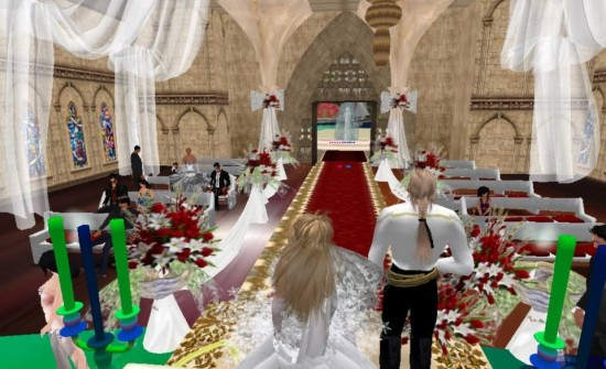 AviWorlds hosts its first wedding ceremony. (Image courtesy AviWorlds.)