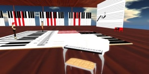 The music school on the Virtual Worlds Radio region on the Haven Your World grid. (Image courtesy Haven.)