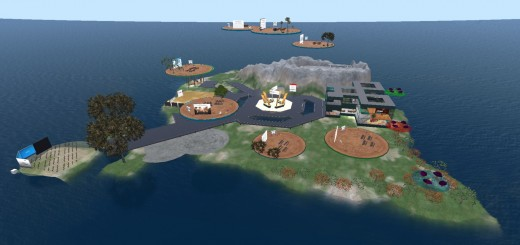 MNPS Virtual School islands on Kitely. (Image courtesy Kitely Ltd.)