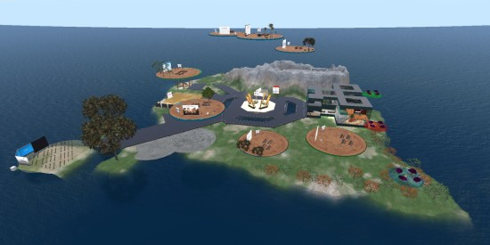 MNPS Virtual School islands on Kitely. (Image courtesy Kitely Ltd.)