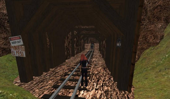 A mysterious mine on Ruby Virtual World. (Image courtesy Ruby Virtual World.)