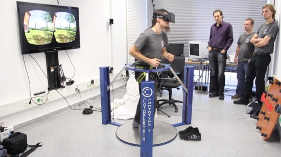 The Virtualizer omni-directional treadmill.