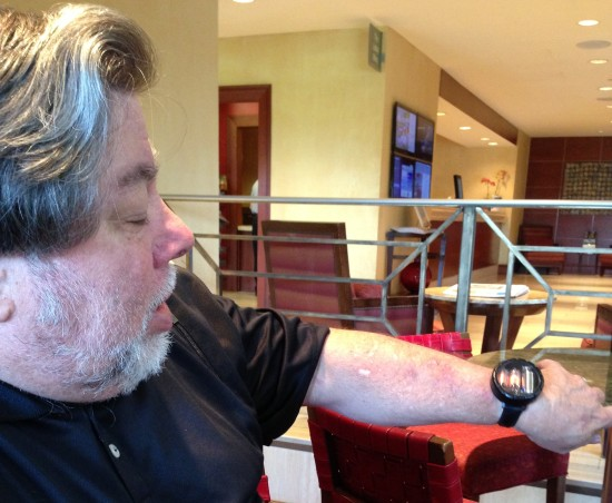 Woz with watch