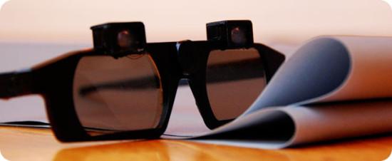 The castAR glasses.