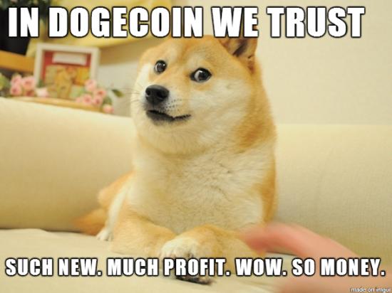 Dogecoin we trust.