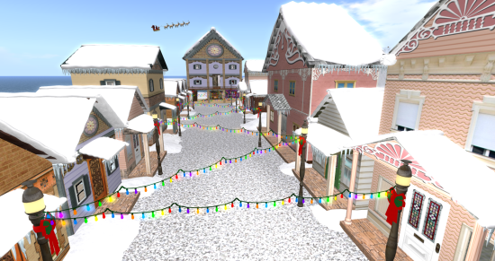 Christmas Village on the Virtual Highway grid. (Image courtesy Virtual Highway.)