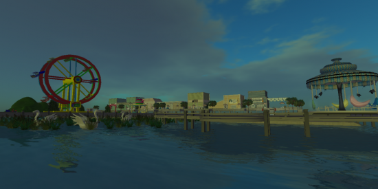 Fisherman's Wharf and Boardwalk. (Image courtesy Tropical Paradise Virtual World.)