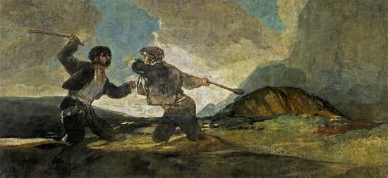 Duelo a garrotazos by Goya