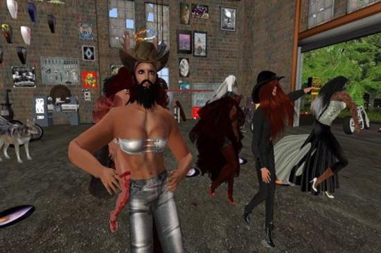 Master Kaj  Qinan  at the Garage on the Virtual Highway grid. (Image courtesy Virtual Highway.)