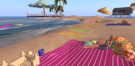 I'm not good at relaxing at the beach. But maybe if I got more practice, I'd get better.
