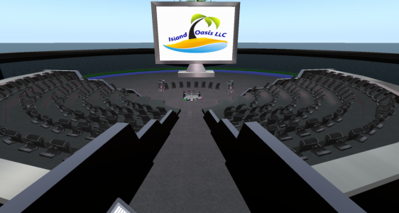 Town Hall meeting space. (Image courtesy Island Oasis.)