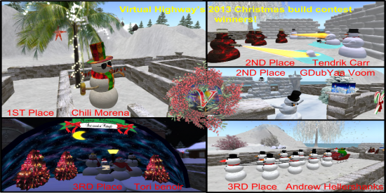 Holiday build contest winners. (Image courtesy Virtual Highway.)
