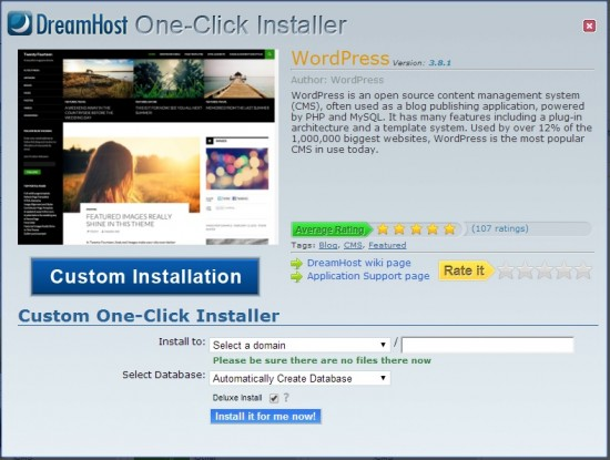 Dreamhost installer