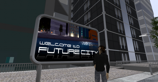 Entrance to Future City on Next Reality. (Image courtesy Danko Whitfield.)