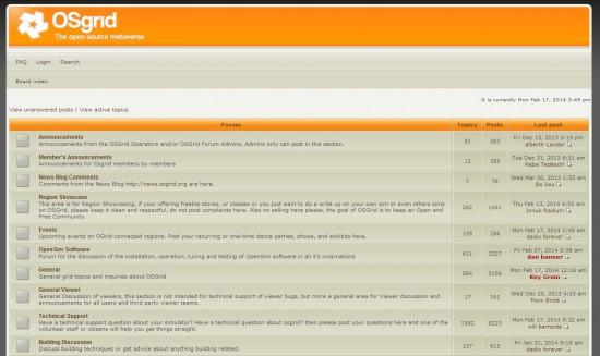 OSgrid forum