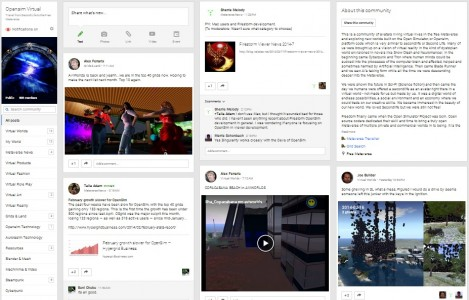 OpenSim Virtual Google Plus community.