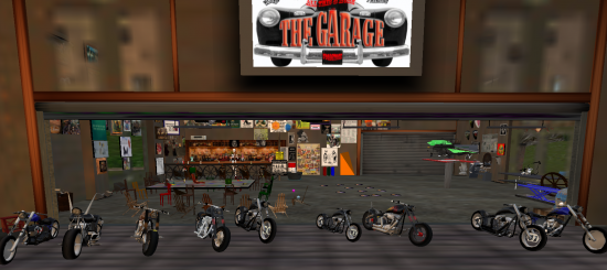 Bike Week at The Garage. (Image courtesy Virtual Highway.)