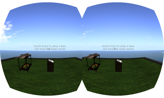 A view of how hovertext looks through the Rift, it seems to be larger and stay larger for a longer distance. (Image courtesy Ann Latham Cudworth.)