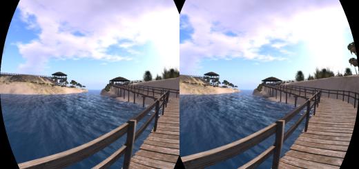 Wheely Island on Alchemy Sims Grid- OpenSim using the Oculus Rift viewer on CtrlAltStudio. (Image courtesy Ann Latham Cudworth.)