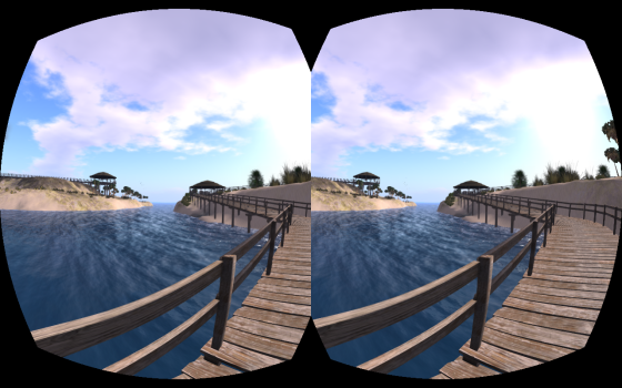 Wheely Island on Alchemy Sims Grid in OpenSim as seen using the Oculus Rift viewer on CtrlAltStudio. (Image courtesy Ann Latham Cudworth.)