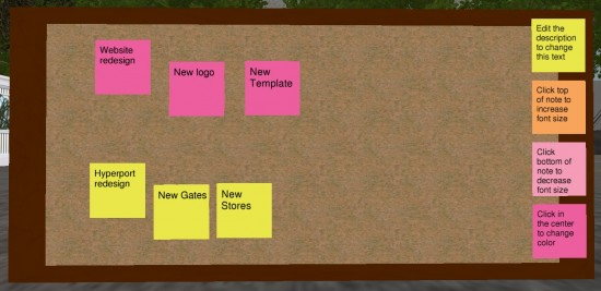 A close-up view of my new project planning board.