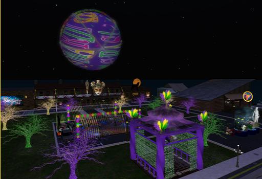 Mardi Gras by night. (Image courtesy Virtual Highway.)