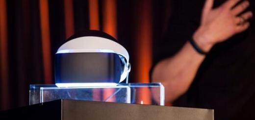 Project Morpheus virtual reality headset. (Image courtesy Sony.)