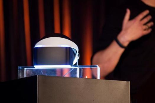 Project Morpheus virtual reality headset. (Image courtesy Sony.)