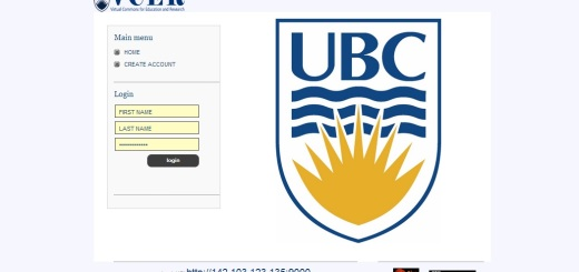 Home page of UBC's Virtual Commons for Education and Research grid.