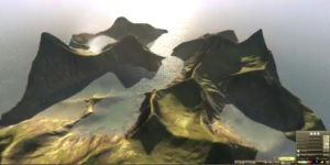 A variable region with mesh terrain by OpenSim developer Michael Emory Cerquoni — also known as Nebadon Izumi in-world.