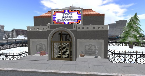 Toy's Mesh Emporium on Littlefield East. (Image courtesy Littlefield Grid.)
