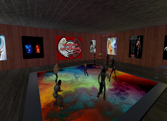 Saints and Sinners grand opening party. (Image courtesy Virtual Highway.)