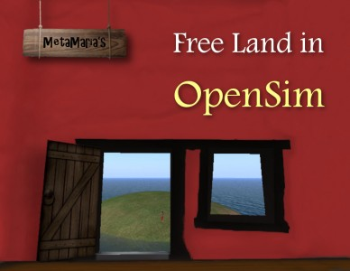 Free Land in OpenSim cover