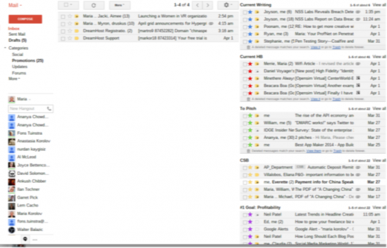 A view of my email.