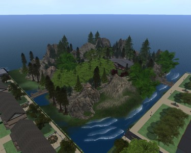 Check out the country pub in Silver Horses Park in the Silver Forest region. (Image courtesy Tangle Grid.)