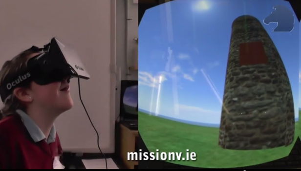 Irish student visits historic site she's rebuilt in a virtual world.