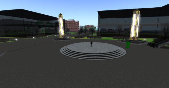 A view of the Virtual Worlds College region. (Image courtesy Virtual Worlds Grid.)