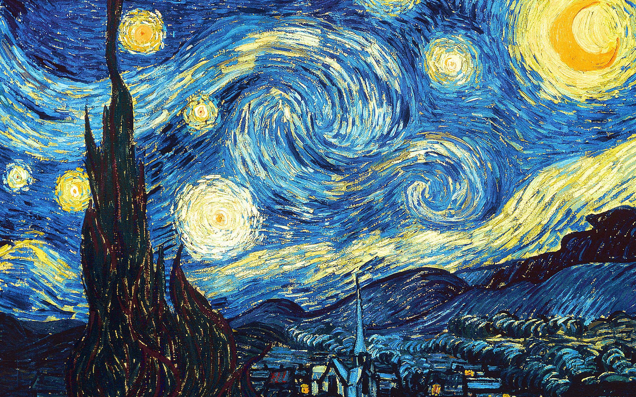 Van Gogh Starry Night High Resolution Van Gogh The Starry Night 1889