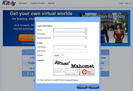 Create new user account