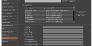 Firestorm's grid management menu can be intimidating for new users.